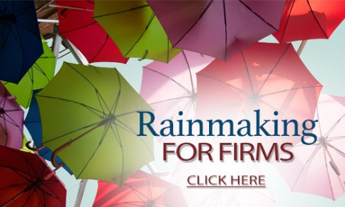 Rainmaking for Firms